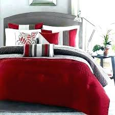 red and black comforter