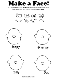 Print colouring pages to read, colour and practise your english. Make A Face On Crayola Com Emotions Preschool Preschool Colors Preschool Worksheets