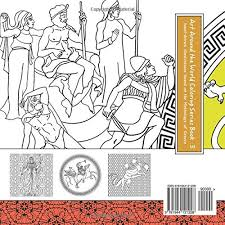 greek art coloring book creative mindfulness for s based on the art and mythology of greece hand drawn images of mythological creatures and
