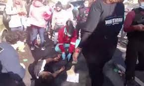 Atropellaron a un manifestante en una protesta frente al consulado de  Colombia - Nueva Ciudad