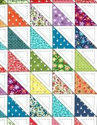 Cheater Quilt Top Fabric... | SEWING | Pinterest | Quilt top, Tops ... & Cotton Quilt Fabric Half Square Triangle Cheater Blocks 1/2 Yard Adamdwight.com