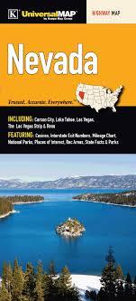 Interstate Mileage Chart Nevada State Regional Highway Fold Map Kappa Map Group