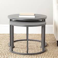 chic ideas 22 round nesting side tables round metal nesting tables