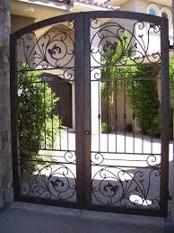 decorative garden gates. Wrought Iron Courtyard Gates | Decorative Works Fence 702-387 Garden