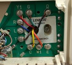 thermostat wiring lennox 67k 4801 to honeywell rth2410b hvac 6 wire thermostat at Old Thermostat Wiring Color Codes
