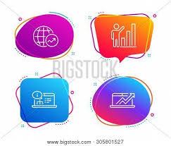 Graph Chart Online Graph Chart Online Vector Photo Free Trial Bigstock