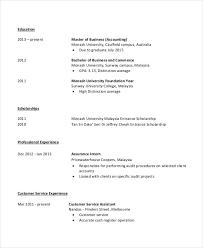 Resume Junior Accountant A Good Resume Example