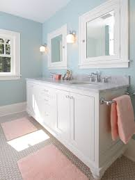 built in bathroom medicine cabinets. Craftsman Bathroom With Custom Medicine Cabinets Shaker Style Inset Door Drawer A Sprayed On Paint Finish And Deltas Victorian Series In Polished Built
