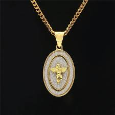 whole fashion mens angle necklace luxury native american pendant necklaces hot s full diamond gold plated chains ag charm necklaces lover gift rose