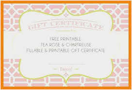 Free Printable Gift Certificates Template 15 Free Printable Gift Certificate Template Statement Letter