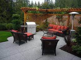 bring the outdoors in with a bbq and comfortable seating