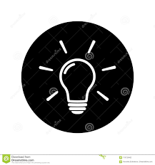 Icon lighting Svg Light Bulb Icon On Black Background Line Vector Icon Light Bulb Sign In Flat Style Lighting Lamp In White Light Bulb As Sign Solution Idea Domalys Light Bulb Icon On Black Background Stock Vector Illustration Of