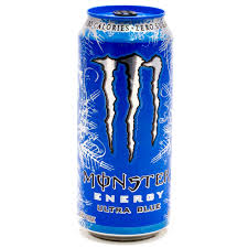 monster can. Brilliant Can Monster Energy Drink Ultra Blue 155oz Can With