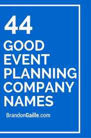 Event Planning Ss Names Plans Good Company Catchy Slogans