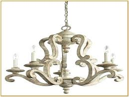 distressed white wood chandelier antique orb