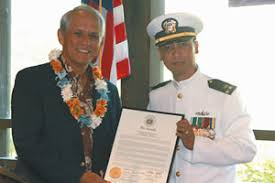 cwo navy mililani man retires from navy with state honors central news