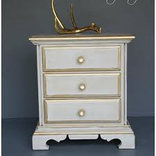 painted furniture makeover gold metallic. end table reloved with an french chic look accented pale gold metallic paint painted furniture makeover n
