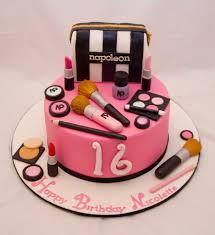 sweet 16 makeup cake