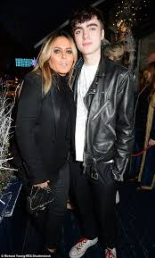 family outing patsy kensit made a rare public appearance with their son lennon gallagher 17