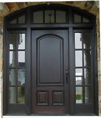 exterior door with transom and sidelights. exterior door with transom and sidelights