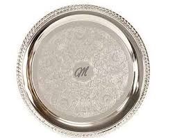 personalized silver plated serving tray custom serving tray engraved serving tray corporate