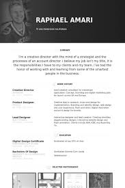 Creative Director Resume Sample Free Resume Templates 2018