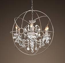 astounding chrome orb chandelier photos