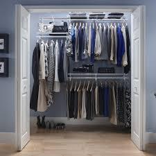 organize wire shelves in closets closetmaid shelftrack 4 6 ft closet organizer kit