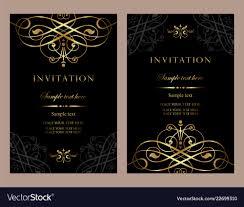 Luxury Invitation Card Template For Design