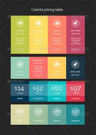 Pricing Table Templates Pricing Table And Table Table Templates From Graphicriver