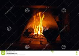 Is Fire Natural Light Oven Open Flame Burn Old Pot Abstract Background Natural