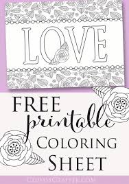 Small Picture Free Printable Adult Coloring Sheet Love Perfect for