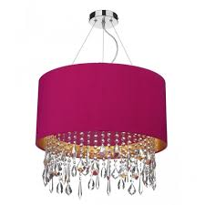 lizard pink ceiling pendant light shade crystal droplets