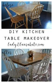 painted and stained kitchen table lady laura kate