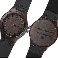 kosting engraved wooden watch anniversary gifts for men personalized gifts for husband boyfriend men leather