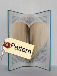 bookfolding pattern heart english folded book artpaper