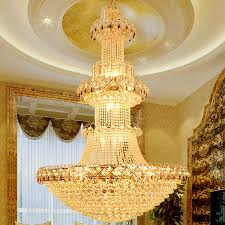 modern luxury europe large gold er k led crystal font b chandelier b font light fixture