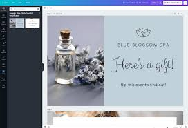 Edit the template by modifying the student's information and other elements. Free Gift Certificate Maker Canva