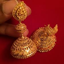 Gold Jhumka Designs For Bridal Gold Jhumkas Indian Jewellery Bengaligoldjewellery Gold