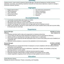 Restaurant General Manager Resume Examples Free To Try Today With Best Restaurant General Manager Resume