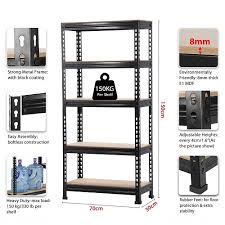 5 tier boltless metal storage shelf for kitchen office supermarkets warehouses