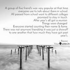 A Group Of Five Friends Quotes Writings By Rajveer Singh