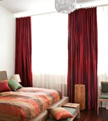 Red Bedroom Curtain Black And White Bedroom Curtains Red Black And ...