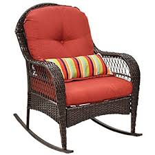 outdoor wicker rocking chairs with cushions. tangkula outdoor wicker rocking chair porch deck rocker patio furniture w/ cushions chairs with d