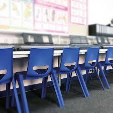 blue school chair. En One School Chair Blue