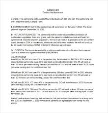 Sample Partnership Agreement Form Partnership Agreement Templates 15 Free Word Pdf Formats