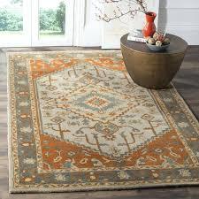 safavieh heritage rug heritage hand woven wool light blue rust area rug safavieh rugs heritage hg812b