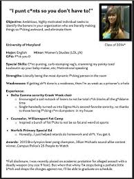 Sorority Rush Resume Sample
