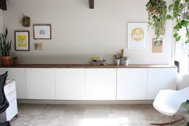 office wall cabinets white. office elise blaha. love the ikea bestå system she used. wall cabinets white