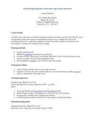 Qa Specialist Sample Resume Quality Specialist Sample Resume Mitocadorcoreano 6